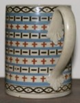 Wood and Caldwell tankard staffordshire pottery